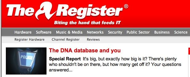 El Reg Special Report: The DNA database and you