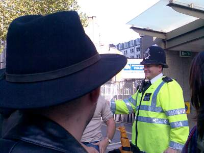 Freedom not fear demonstration at New Scotland Yard