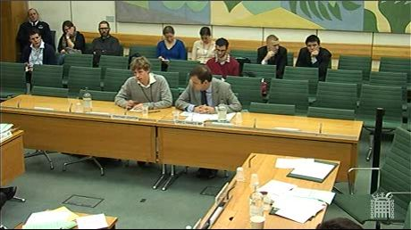 Jonathan Leighton & Greg Hands giving evidence at  the Home Affairs Committee