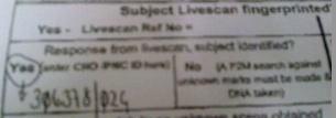LiveScan result