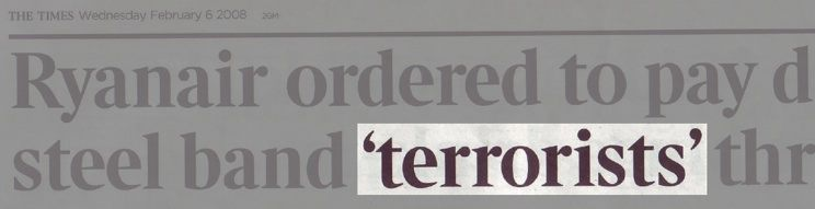 The Times - terrorist headline